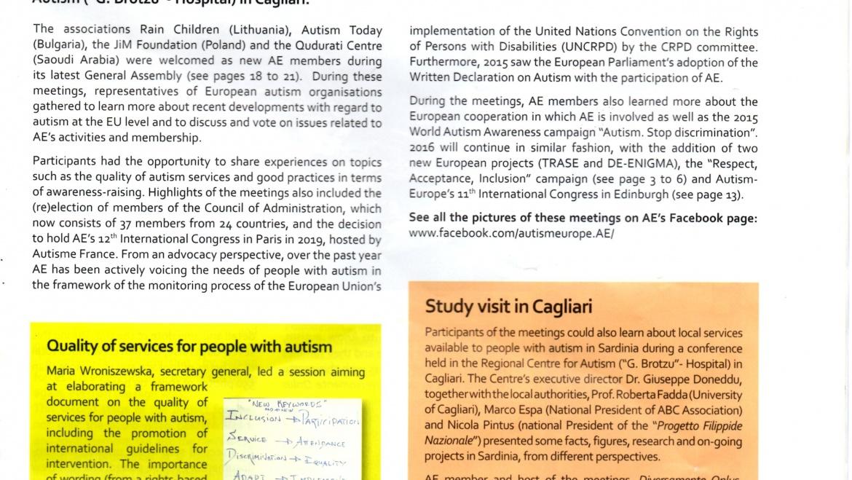 Assemblea Generale di Autismo Europa a Cagliari