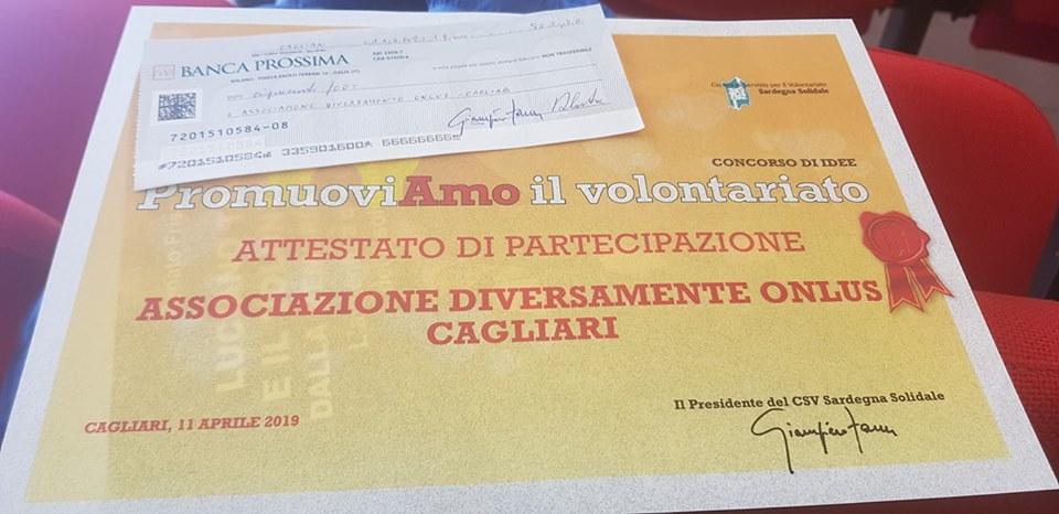 Diversamente Onlus premiata al Concorso di Idee Promuoviamo il Volontariato