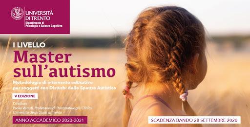Metodologie di intervento educativo per soggetti con disturbi dello spettro autistico – Master I livello